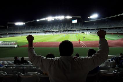 התרגשות במהלך משחק כדורגל